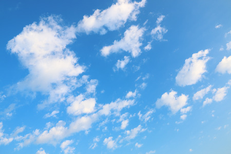 it is white clouds and blue sky for pattern and design.