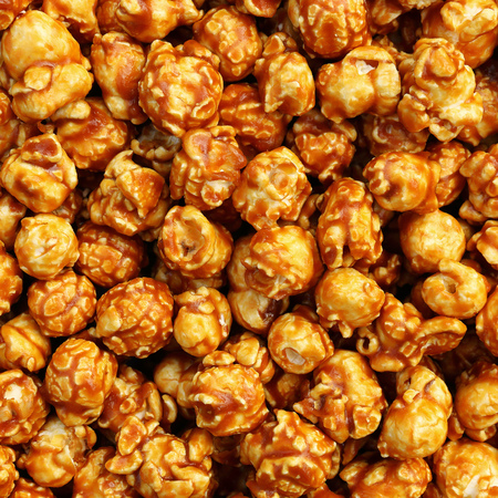 it is sweet caramel popcorn for pattern and background.