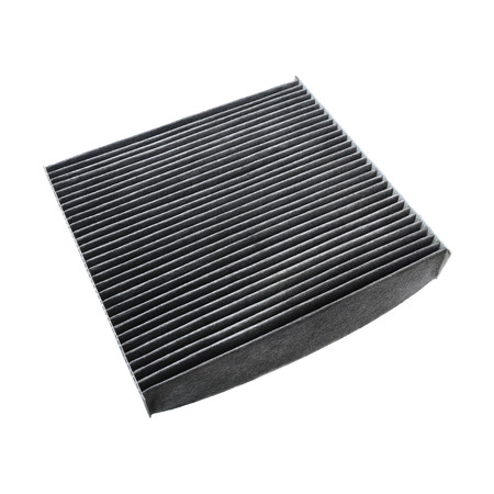 it is car air conditioning filter isolated on white.