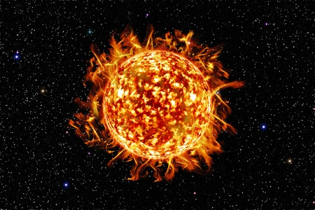it is one sun in galaxy,element of this image furnished by nasa.