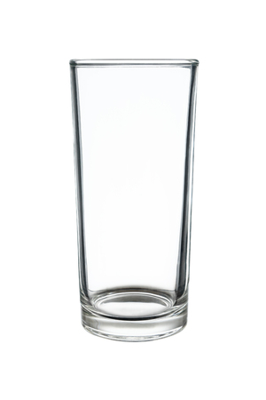 glasswork: it is highball or long drink glass isolated on white.