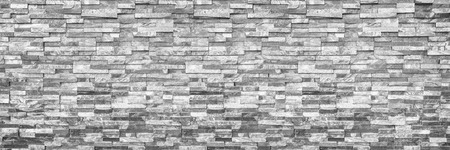 horizontal modern brick wall for pattern and background.