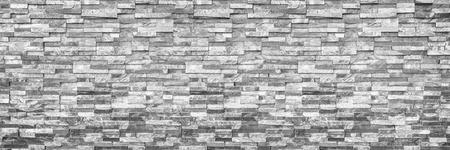 horizontale moderne bakstenen muur voor patroon en achtergrond.
