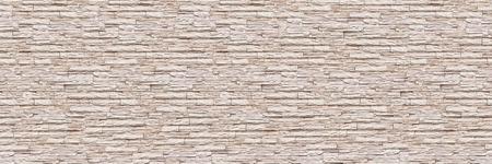 horizontale moderne leibakstenen muur voor patroon en achtergrond.