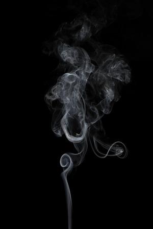 white smoke isolated on black.