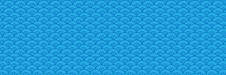 horizontal blue water and sea background,vector illustration.