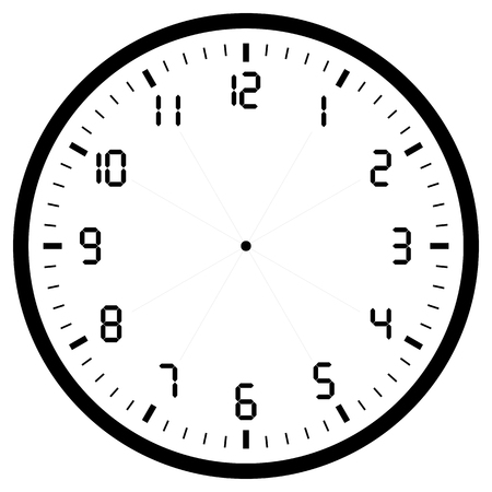 black blank clock isolated on white for web and design,vector illustration.