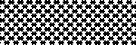horizontal black and white jigsaw puzzle for pattern and background,vector illustration.