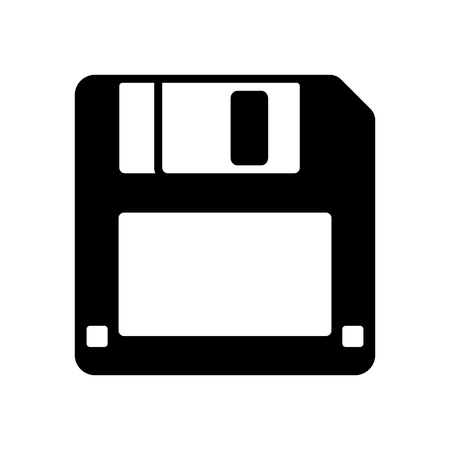 one black floppy disk icon isolated on white for web,app and design,vector illustration.