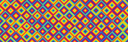 horizontal abstract colorful square design for pattern and background.