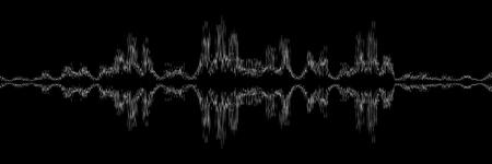 horizontales abstraktes schwarz-weißes Schallwellendesign für Muster und Hintergrund.