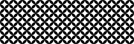 horizontal black and white circle texture design for pattern and background. Çizim