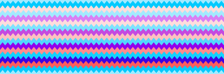 horizontal seamless colorful zigzag texture for pattern and background.