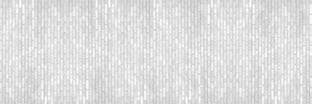 horizontal white brick wall for pattern and background.