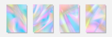 holographic pastel cover for pattern, website and design.