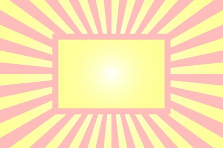 pastel yellow and pink zoom background with frame for design.