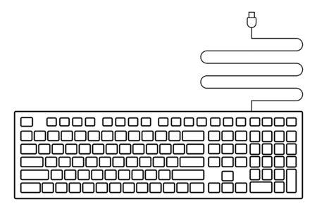 black empty usb keyboard icon for design. Stock Illustratie