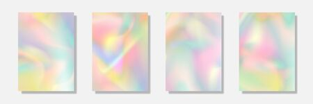 holographic pastel cover and pages for pattern, website and design.
