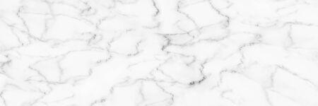 horizontal elegant white marble background. Imagens