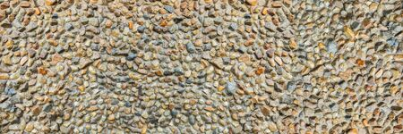 pebble in cement texture for pattern and background. Imagens