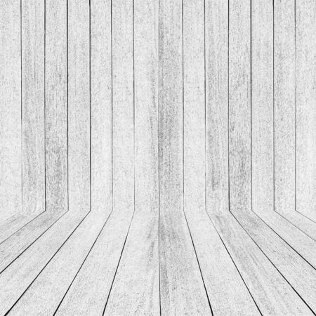 white wood floor and wall background. Imagens