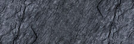 horizontal black stone texture for pattern and background.