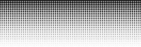 horizontal black heart shape design for pattern and background. Illustration