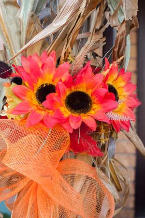 corn stalks: Autumn Silk Flowers on Corn Stalks