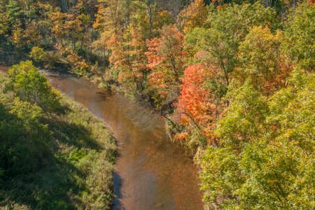 meandering: Meandering Stream seen from up above Stock Photo
