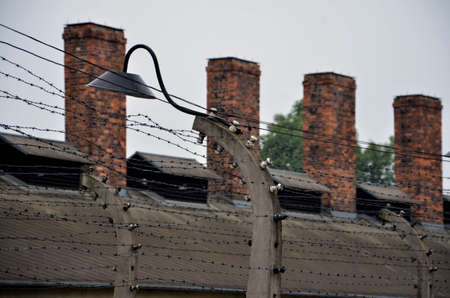 Photo detail in nazi concentration camp in Poland photo