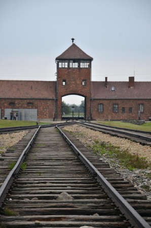 nazism: Photo detail in nazi concentration camp in Poland
