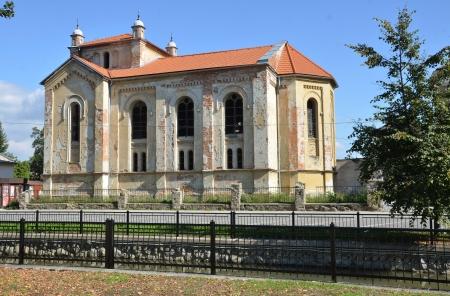 in disrepair: Vecchia sinagoga ebraica rovina nel Bytca, Slovacchia