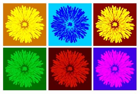 color dandelion photo