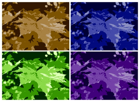 colored maple leaf texture Stock Photo