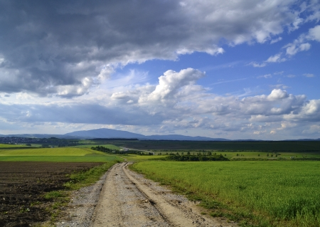 country road in the distance Stock Photo - 14160254