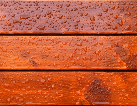 drops of water on the boards photo
