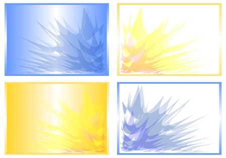 abstract yellow and blue rays photo