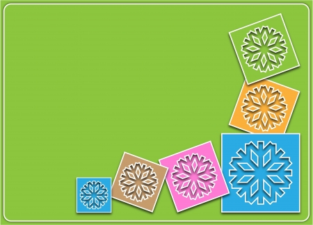 Christmas or winter background with snowflakes in pastel colors photo