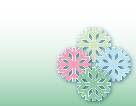 winter background with snowflakes pastel colors with free space for text Stock Photo