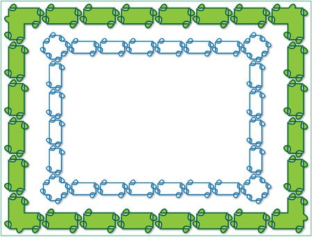 tuned: Art Nouveau frame background with blue green and white tuned