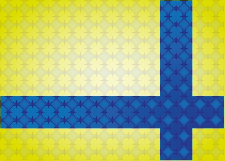 cross linked: abstract background Cross linked decorated in yellow and blue