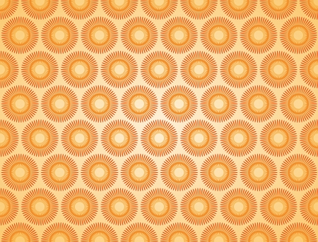 regularly: abstract orange jagged sun regularly spaced background