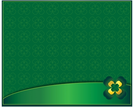 green background with clover leaf surfaces for text photo