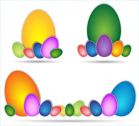 Easter egg pastel colors arranged in groups Stock Photo - 18082218