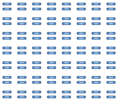 regularly: background with regularly spaced tubular blue half circles Stock Photo