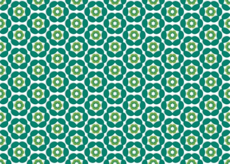 regularly: wallpaper with emerald colored flowers do regularly spaced evenly by