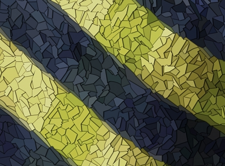 shards: background with blue and yellow colored glass shards