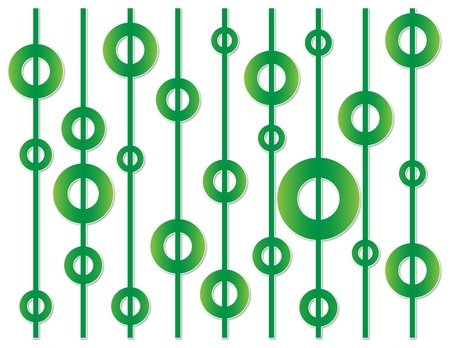unevenly: background of green circles on the straw unevenly distributed