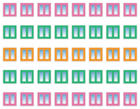 regularly: abstract background of colorful windows regularly spaced Stock Photo