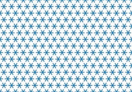 Snowflakes blue background with white contours pattern